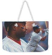Kirby Puckett Minnesota Twins Weekender Tote Bag by Dick Bobnick