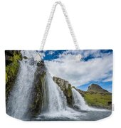 Kirkjufellsfoss Waterfalls, Church Weekender Tote Bag
