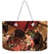 Kiss At Christmas Weekender Tote Bag