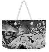 Kiss Me Hot Stuf In Black And White Weekender Tote Bag
