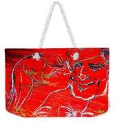 Kissing Couple Weekender Tote Bag