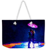 Kissing In The Rain Weekender Tote Bag