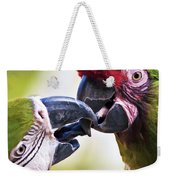 Kissing Macaws Weekender Tote Bag