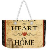 Kitchen Is The Heart Weekender Tote Bag