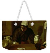 Kitchen Maid With The Supper At Emmaus, C.1618 Oil On Canvas Weekender Tote Bag