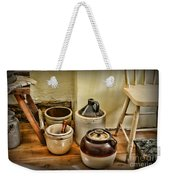 Kitchen Old Stoneware Weekender Tote Bag by Paul Ward