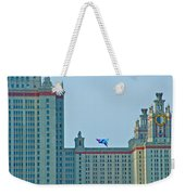 Kite Over Moscow University In Moscow-russia Weekender Tote Bag