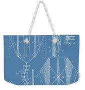 Kite Patent On Blue Weekender Tote Bag