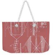 Kite Patent On Red Weekender Tote Bag