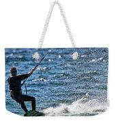 Kite Surfing Splash Weekender Tote Bag by Dan Sproul