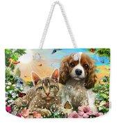 Kitten And Puppy Weekender Tote Bag