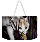 Kitten In The Plant Weekender Tote Bag