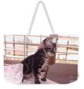 Kitten On Alert Weekender Tote Bag