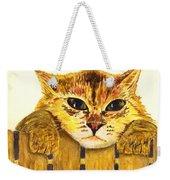 Kitten On Fence Weekender Tote Bag