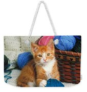Kitten Playing With Yarn Weekender Tote Bag