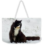 Kitty Cat In The Snow Weekender Tote Bag