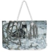 Kitty In The Cold Weekender Tote Bag