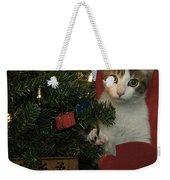 Kitty Says Happy Holidays Weekender Tote Bag