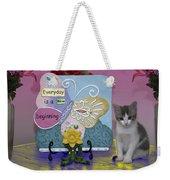 Kitty Says Wow Weekender Tote Bag