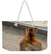 Kitty Watches The Squirrel Weekender Tote Bag