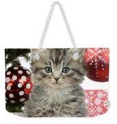 Kitty Xmas Present Weekender Tote Bag