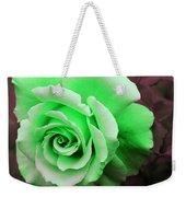 Kiwi Lime Rose Weekender Tote Bag