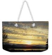 Klamath Lake Sunset Weekender Tote Bag