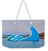 Kneeling Before The Queen Iceberg In Saint Anthony-newfoundland  Weekender Tote Bag