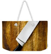 Knife On Chopping Board Weekender Tote Bag