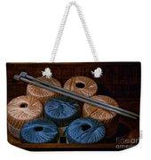 Knitting Yarn In A Wooden Box Weekender Tote Bag