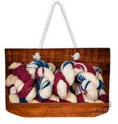 Knitting Yarn In Patriotic Colors Weekender Tote Bag