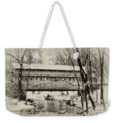 Knox Valley Forge Covered Bridge Weekender Tote Bag