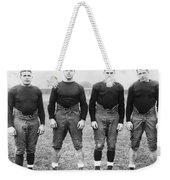 Knute Rockne's Backfield Weekender Tote Bag