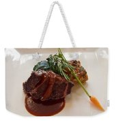 Kobe Beef With Spring Spinach And A Wild Mushroom Bread Pudding Weekender Tote Bag