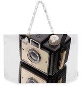 Kodak Brownie Bullet Camera Mirror Image Weekender Tote Bag