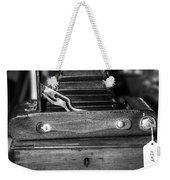 Kodak Folding Autographic Brownie 2-a Black And White Weekender Tote Bag