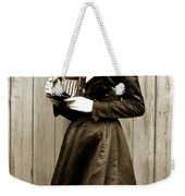 Kodak Girl With A Folding Camera Circa 1918 Weekender Tote Bag