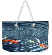 Koi And Sky Reflection Weekender Tote Bag