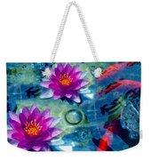 Koi And The Water Lilies Weekender Tote Bag