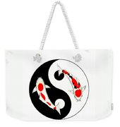 Koi Kohaku And Taisho Sanke Yin Yang Painting Weekender Tote Bag