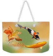 Koi With Azalea Ripples Dreamscape Weekender Tote Bag