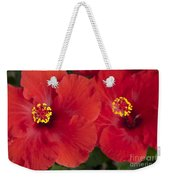 Kokio Ulaula - Tropical Red Hibiscus Weekender Tote Bag