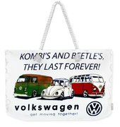 Kombis And Beetles Last Forever Weekender Tote Bag