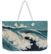 Konen Uehara Waves Weekender Tote Bag by Georgia Fowler