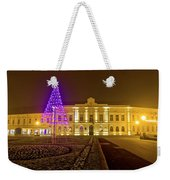 Koprivnica Night Street Christmas Scene Weekender Tote Bag