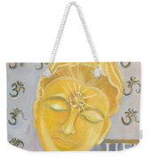 Kuan Yin With Quote Weekender Tote Bag