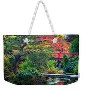 Kubota Gardens In Autumn Weekender Tote Bag