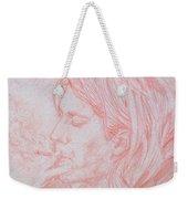 Kurt Cobain Smoking-pencil Portrait Weekender Tote Bag