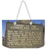 Ky-2045 Naming Of The Cumberland River Weekender Tote Bag