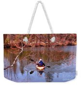 Kyaking On A Lake In Spring Weekender Tote Bag